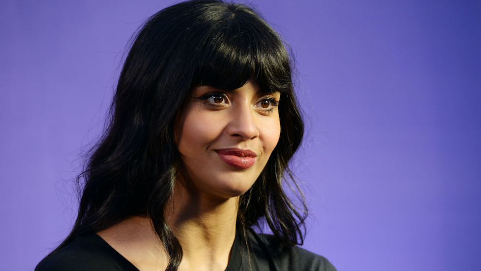 "Actress Jameela Jamil attends the Jameela Jamil and Zumba ""SELFish"" Event at Casita Hollywood on February 04, 2020 in Los Angeles, California."