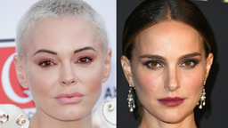 Rose McGowan attends the Q Awards 2019 at The Roundhouse on October 16, 2019 in London, England.//Natalie Portman arrives at the 2019 ELLE Women In Hollywood at the Beverly Wilshire Four Seasons Hotel on October 14, 2019 in Beverly Hills, California.