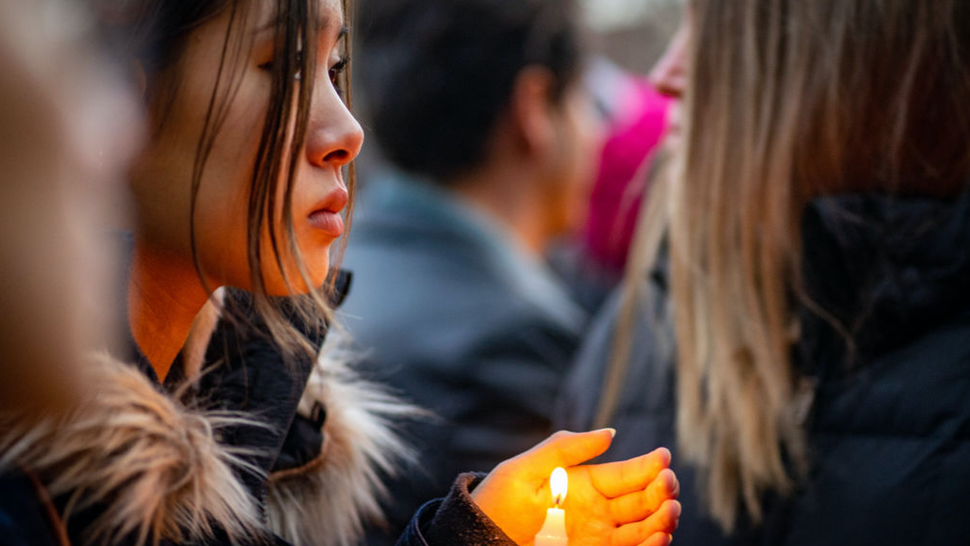 Hundreds attend a candlelight vigil held for a murdered Barnard College student Tessa Majors on December 15, 2019 in New York City. A 13-year-old suspect has been arrested in connection with the death of 18-year-old Barnard College freshman Tessa Rane Majors.