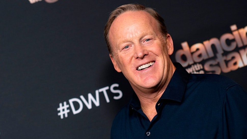Former White House press secretary Sean Spicer attends the Dancing With The Stars - 2019 top 6 finalist event, November 4, 2019, in Los Angeles.