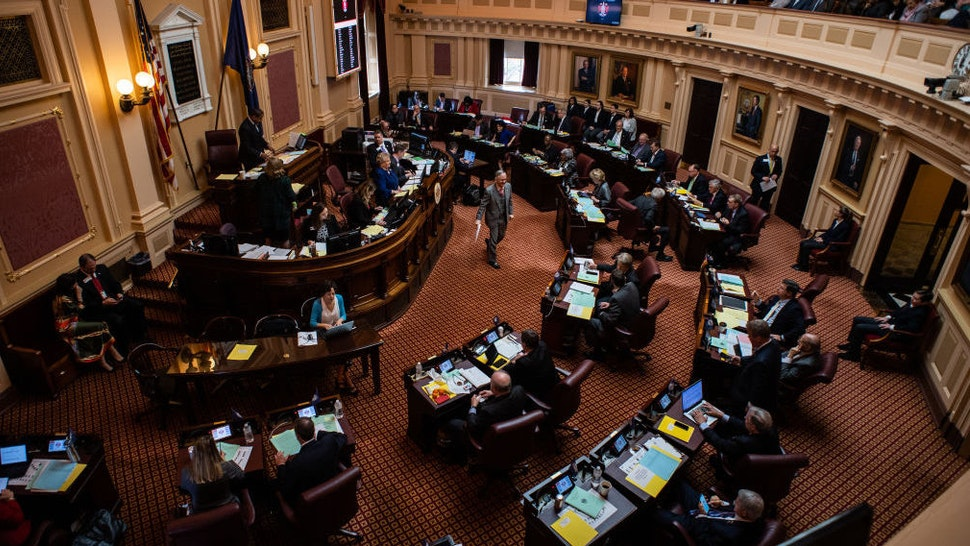 The opening of the 2019 session of the Virginia General Assembly is seen in the Senate chambers at the Capitol in on Wednesday, January 9, 2019, in Richmond, VA. (Photo by Salwan Georges/The Washington Post via Getty Images)