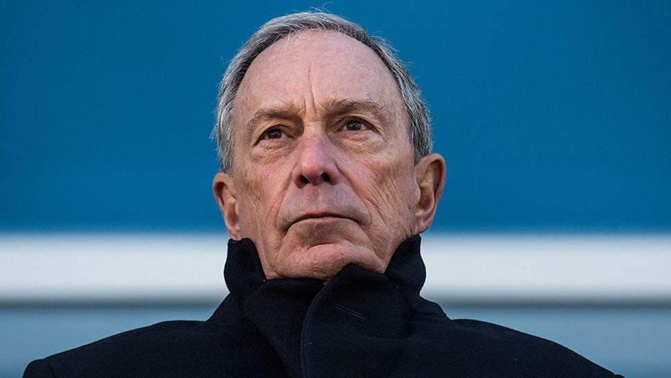NEW YORK, NY - NOVEMBER 13: Outgoing Mayor of New York City Michael Bloomberg speaks at the opening ceremony of Four World Trade Center, the first tower to open at the original site of the World Trade Center, on November 13, 2013 in New York City. The building was designed by Fumihiko Maki, has 72 floors, is 978 feet tall and offers 2,500,000 square feet of space. (Photo by