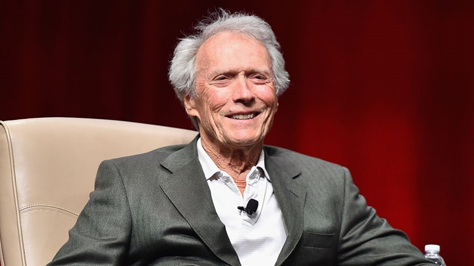 "LAS VEGAS, NV - APRIL 22: Recipient of the Fandango Fan Choice award for Favorite Film of 2014, 'American Sniper,' Clint Eastwood speaks onstage during CinemaCon and Warner Bros. Pictures Present ""The Legend of Cinema Luncheon: A Salute to Clint Eastwood"" at Caesars Palace during CinemaCon, the official convention of the National Association of Theatre Owners, on April 22, 2015 in Las Vegas, Nevada. (Photo by"