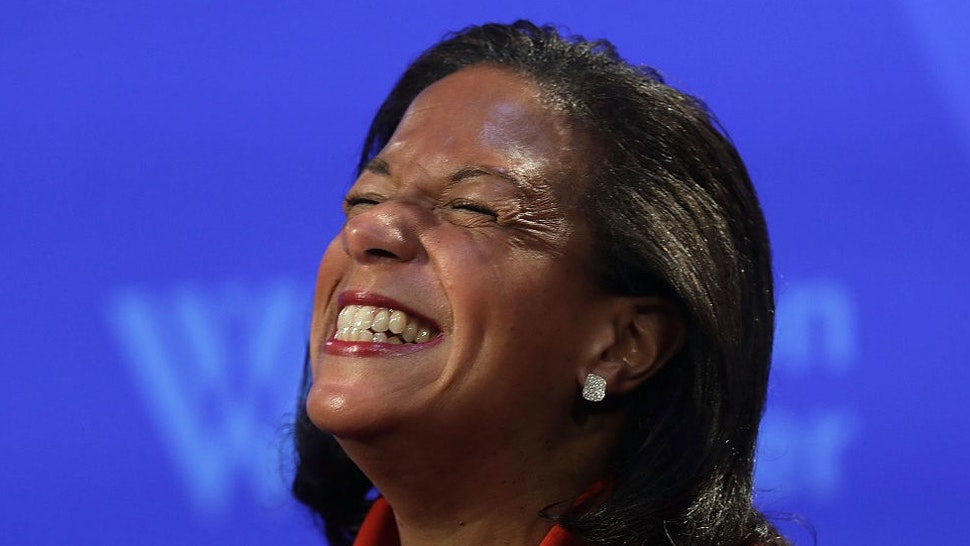 WASHINGTON, DC - OCTOBER 14: National Security Advisor Susan Rice participates in a discussion October 14, 2016 at the Woodrow Wilson Center in Washington, DC. Rice discussed the Obama administration's approach to Cuba. (Photo by
