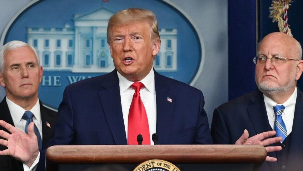 US President Donald Trump speaks during a press conference on the COVID-19, coronavirus, outbreak at the White House in Washington, DC on February 29, 2020. - The number of novel coronavirus cases in the world rose to 85,919, including 2,941 deaths, across 61 countries and territories by 1700 GMT on Saturday, according to a report gathered by AFP from official sources. (Photo by Roberto SCHMIDT / AFP) (Photo by