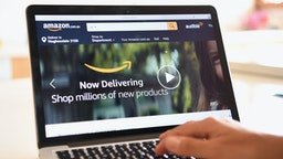 The Amazon website is seen on December 5, 2017 in Dandenong, Australia. Amazon has ended months of speculation by launching its local website overnight.