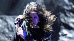 Ozzy Osbourne of Black Sabbath performs at Ozzfest 2016 at San Manuel Amphitheater on September 24, 2016 in Los Angeles, California.