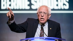 Democratic presidential candidate, Sen. Bernie Sanders (I-VT) speaks to the crowd during the 2019 South Carolina Democratic Party State Convention on June 22, 2019 in Columbia, South Carolina.