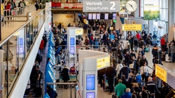 Passengers await at terminal 2 of Schiphol Airport to change their flights to the US. All travels between the United States and Europe except for the United Kingdom will be canceled or interrupted for the next 30 days amid Coronavirus fears. The Department of Homeland Security said the order suspends the entry of most foreign nationals who have been in certain European countries at any point during the 14 days prior to their scheduled arrival to the United States.