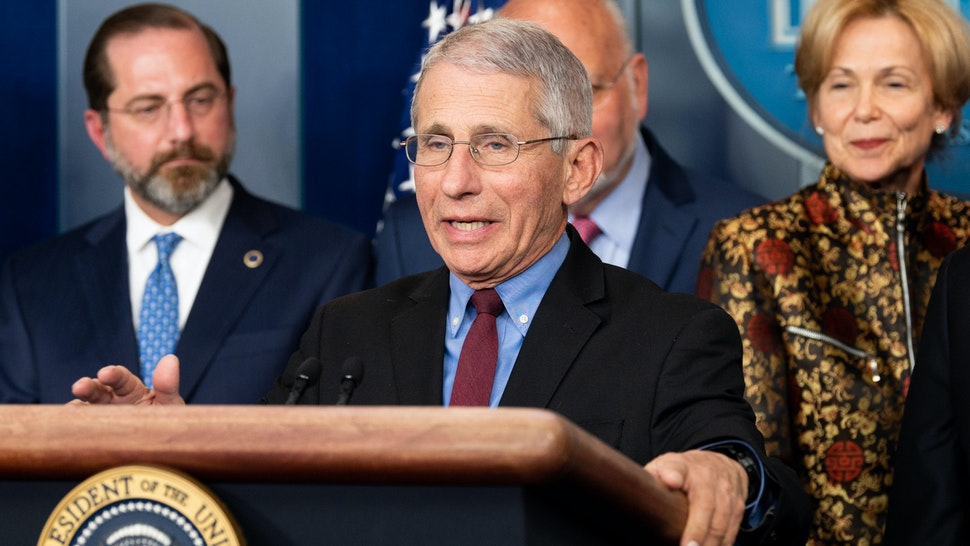 WASHINGTON, UNITED STATES - MARCH 09, 2020: Dr. Anthony Fauci, Director of the National Institute of Allergy and Infectious Diseases speaks at the Coronavirus Task Force Press Conference.