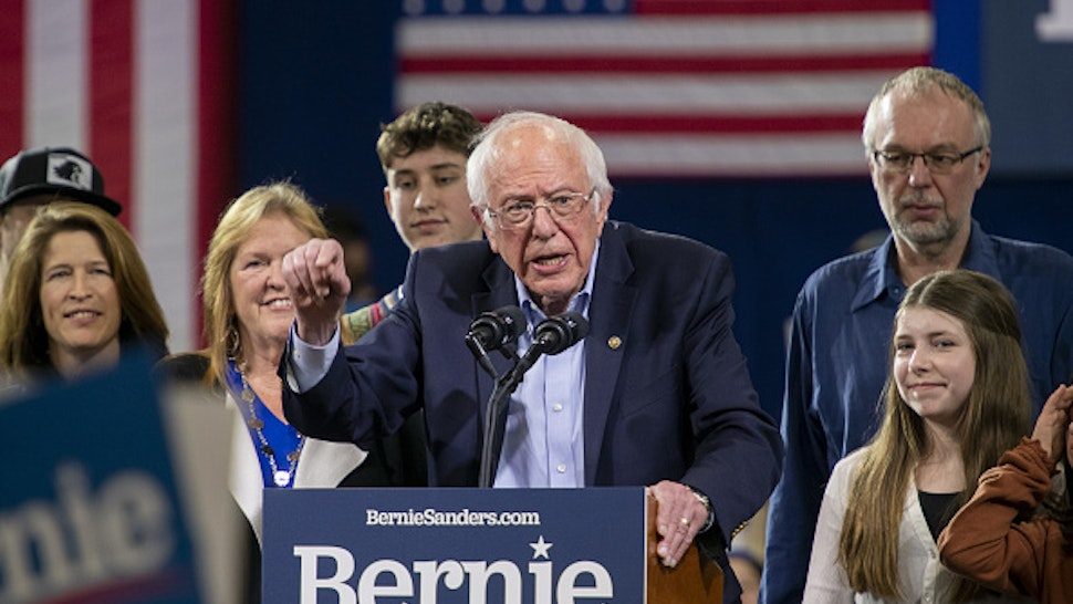 Senator Bernie Sanders, an Independent from Vermont and 2020 presidential candidate, speaks during a primary night rally in Essex Junction, Vermont, U.S., on Tuesday, March 3, 2020. The biggest day of the presidential primary calendar will define the nomination fight for Sanders and Joe Biden and determine whetherMichael BloombergandElizabeth Warrenhave a rationale for carrying on their campaigns.