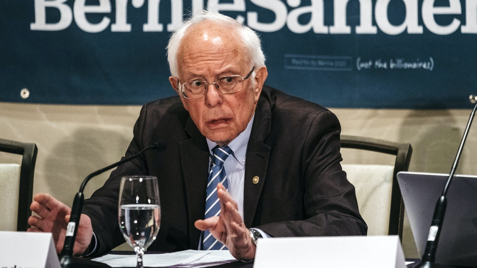 Senator Bernie Sanders, an Independent from Vermont and 2020 presidential candidate, speaks during a coronavirus public health roundtable in Romulus, Michigan, U.S., on Monday, March 9, 2020. Sanders said any eventual vaccine for the deadly novel coronavirus should be made available free of charge once developed and approved for use.