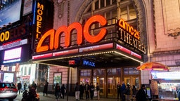General view of atmosphere outside the AMC Empire 25 theater on March 15, 2016 in New York City.
