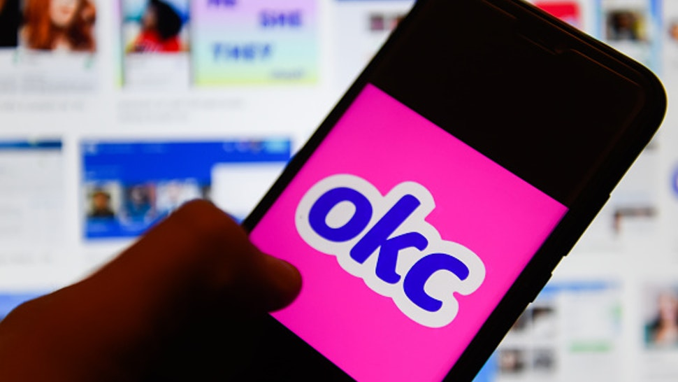 POLAND - 2020/01/06: In this photo illustration an OkCupid logo seen displayed on a smartphone.