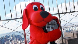 Clifford the Big Red Dog lights The Empire State Building on October 22, 2010 in New York City.