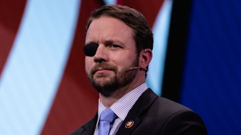 Rep. Dan Crenshaw (R-TX), speaks at the 2019 American Israel Public Affairs Committee (AIPAC) Policy Conference, at the Walter E. Washington Convention Center in Washington, D.C., on Monday, March 25, 2019