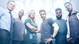 Bruce Greenwood, Shaunette Renée Wilson, Emily VanCamp, Matt Czuchry, Malcolm-Jamal Warner and Manish Dayal in Season Two of THE RESIDENT premiering Monday, Sept. 24 (8:00-9:00 PM ET/PT) on FOX.