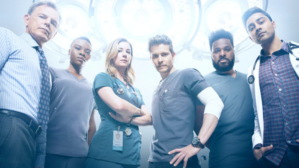 Bruce Greenwood, Shaunette Renée Wilson, Emily VanCamp, Matt Czuchry, Malcolm-Jamal Warner and Manish Dayal in Season Two of THE RESIDENT premiering Monday, Sept. 24 (8:00-9:00 PM ET/PT) on FOX.