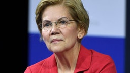 LAS VEGAS, NEVADA - OCTOBER 02: Democratic presidential candidate and U.S. Sen. Elizabeth Warren (D-MA) listens to a question from an audience member during the 2020 Gun Safety Forum hosted by gun control activist groups Giffords and March for Our Lives at Enclave on October 2, 2019 in Las Vegas, Nevada. Nine Democratic candidates are taking part in the forum to address gun violence one day after the second anniversary of the massacre at the Route 91 Harvest country music festival in Las Vegas when a gunman killed 58 people in the deadliest mass shooting in recent U.S. history.