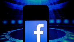 In this photo illustration a Facebook App logo is displayed on a smartphone on March 14, 2020 in Athens, Greece.