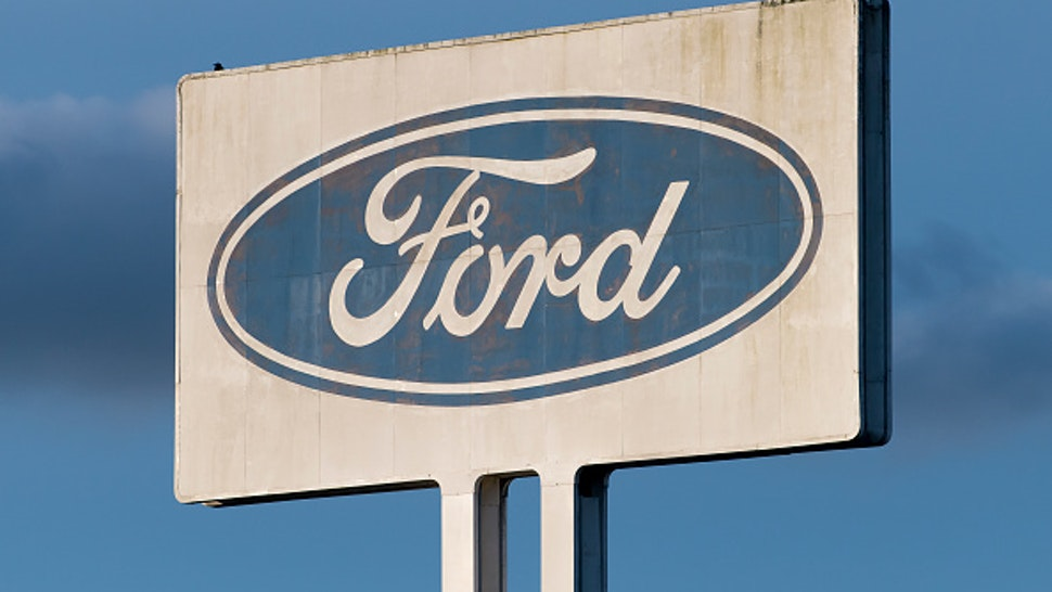 BRIDGEND, WALES - JUNE 05: A close-up of the Bridgend Ford Engine plant sign on June 5, 2019 in Bridgend, Wales. Union sources have said the engine plant in Bridgend will close in September 2020. The British car industry is facing a series of difficulties including a fall in demand for diesel vehicles and a deteriorating sales trend in the Far East.