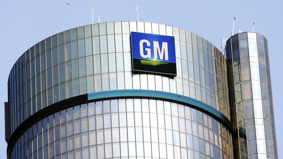 DETROIT, MI - SEPTEMBER 17: The General Motors logo on the world headquarters building is shown September 17, 2015 in Detroit, Michigan. Mary Barra, Chief Executive Officer of General Motors, and Mark Reuss, President of GM North America, held an Employee Town Hall Meeting and a question & answer session with the news media today to discuss GM's $900 million settlement with the Justice Department over GM's ignition switch recalls.