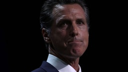 SAN FRANCISCO, CALIFORNIA - JUNE 01: California Gov. Gavin Newsom speaks during the California Democrats 2019 State Convention at the Moscone Center on June 01, 2019 in San Francisco, California. Several Democratic presidential hopefuls are speaking at the California Democratic Convention that runs through Sunday.