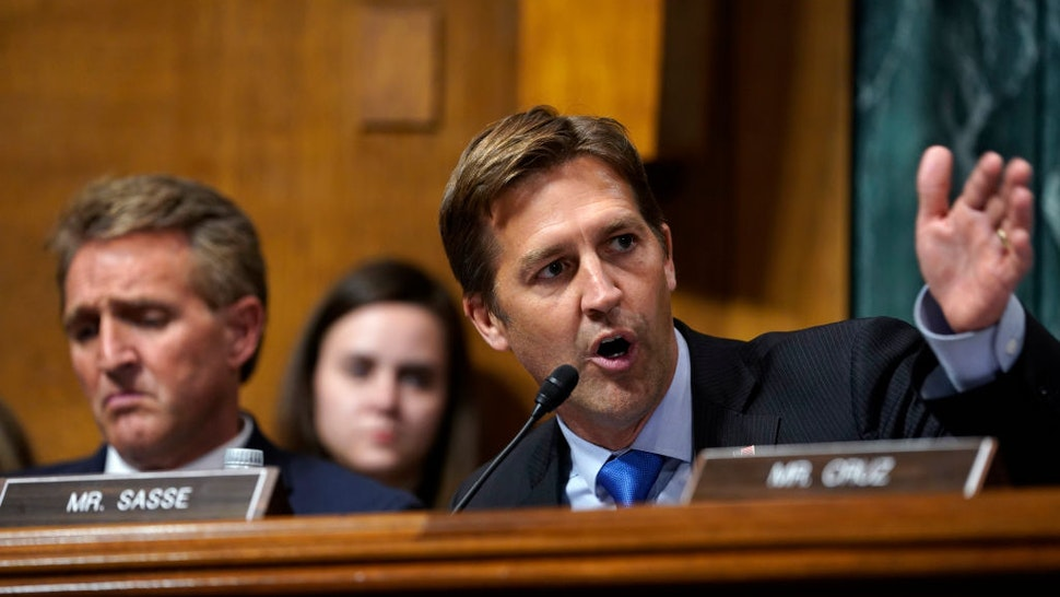 Sen. Ben Sasse, R-Neb., questions Supreme Court nominee Brett Kavanaugh as he testifies before the Senate Judiciary Committee on Capitol Hill on September 27, 2018