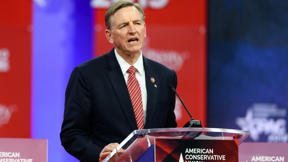 OXON HILL, MD, UNITED STATES - 2019/02/28: U.S. Representative Paul Gosar (R-AZ) seen speaking during the American Conservative Union's Conservative Political Action Conference (CPAC) at the Gaylord National Resort & Convention Center in Oxon Hill, MD. (Photo by Michael Brochstein/SOPA Images/LightRocket via Getty Images)