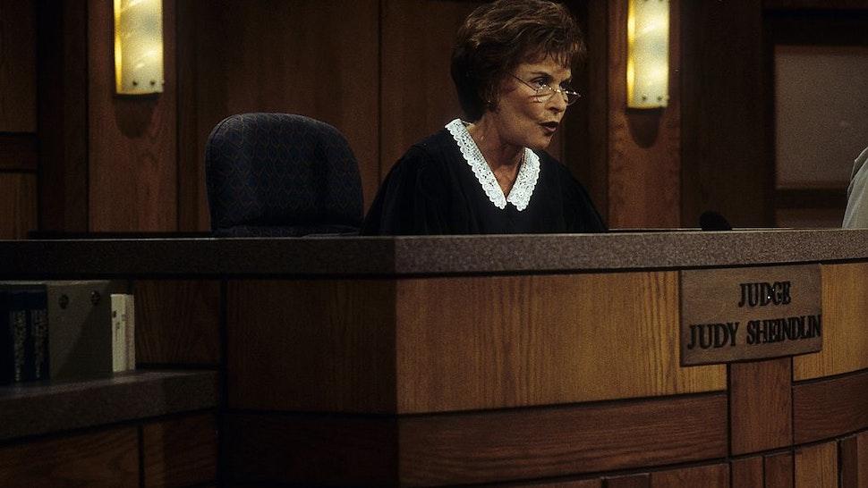 Judge Judy, Judith Sheindlin, on Set on February 14. 1997 in Los Angeles, California.