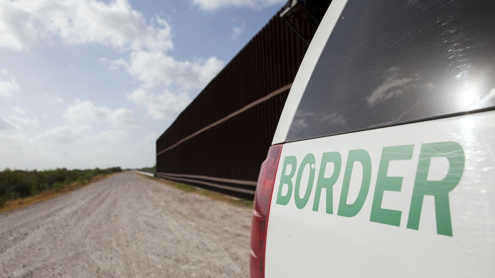 UNITED STATES - AUGUST 20: A Customs and Border Protection vehicle patrols the border wall in Rio Grande Valley sector of the Texas border on Aug. 20, 2019. (Photo by Jinitzail Hernández/CQ-Roll Call, Inc via Getty Images)