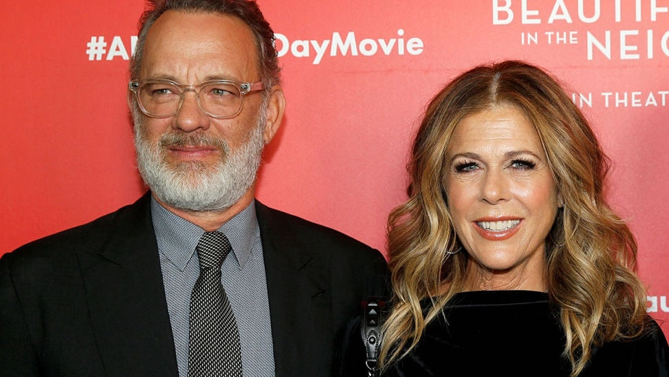 """Tom Hanks and Rita Wilson attend """"A Beautiful Day In The Neighborhood"""" New York Screening at Henry R. Luce Auditorium at Brookfield Place on November 17, 2019 in New York City."""