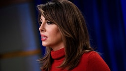 State Department Spokesperson Morgan Ortagus speaks during a briefing at the US Department of State January 17, 2020, in Washington, DC.