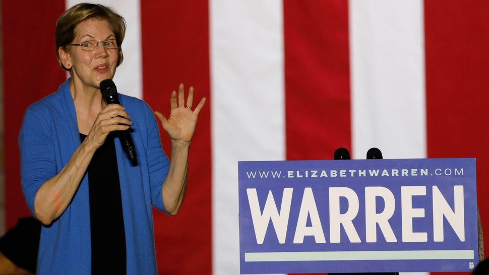 Democratic presidential hopeful Massachusetts Senator Elizabeth Warren speaks during a campaign rally at Eastern Market in Detroit, Michigan, on March 3, 2020. - Fourteen states and American Samoa are holding presidential primary elections, with over 1400 delegates at stake. (Photo by JEFF KOWALSKY / AFP) (Photo by JEFF KOWALSKY/AFP via Getty Images)