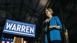 Senator Elizabeth Warren, a Democrat from Massachusetts and 2020 presidential candidate, pauses while speaking during a rally in Detroit, Michigan, U.S., on Tuesday, March 3, 2020.