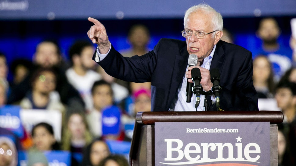 Senator Bernie Sanders, an Independent from Vermont and 2020 presidential candidate, speaks during a Get Out The Vote rally in Detroit, Michigan, U.S., on Friday, March 6, 2020.