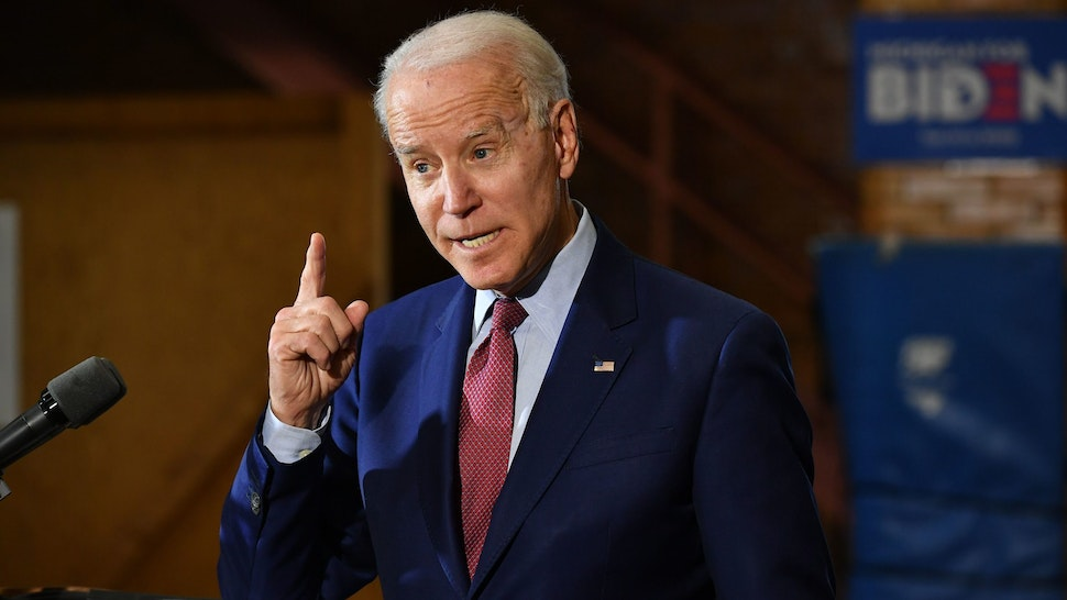 Democratic presidential candidate Joe Biden speaks to supporters during a campaign stop at Berston Field House in Flint, Michigan on March 9, 2020. (Photo by MANDEL NGAN / AFP) (Photo by MANDEL NGAN/AFP via Getty Images)