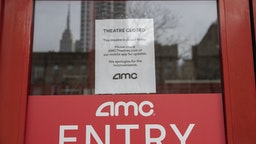 NEW YORK, NY - MARCH, 17: An AMC theater remains closed on March 17, 2020 in New York City. Schools, businesses and most places where people congregate across the country have been shut down as health officials try to slow the spread of COVID-19. (Photo by Victor J. Blue/Getty Images)