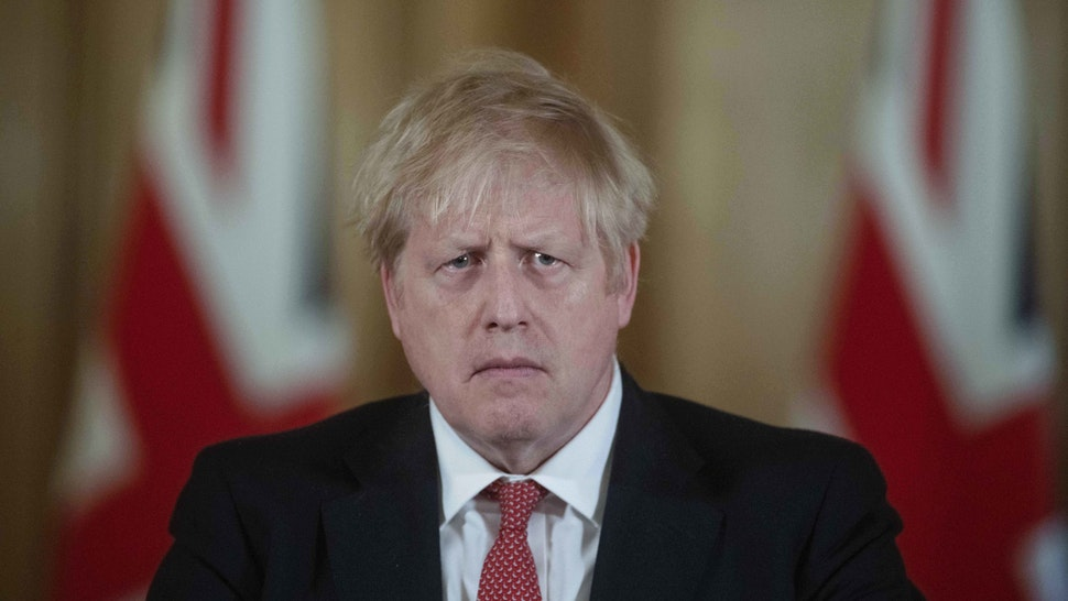 Boris Johnson, U.K. prime minister, pauses while speaking during a daily coronavirus briefing inside number 10 Downing Street in London, U.K., on Friday, March 20, 2020. Johnson ordered pubs, restaurants and leisure centers across the country to close from Friday night in a bid to slow the spread of the coronavirus pandemic. Photographer: Julian Simmonds/The Daily Telegraph/Bloomberg via Getty Images