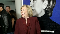 """NEW YORK, NEW YORK - MARCH 04: Hillary Rodham Clinton attends Hulu's """"Hillary"""" NYC Premiere on March 04, 2020 in New York City. (Photo by Monica Schipper/Getty Images for Hulu)"""