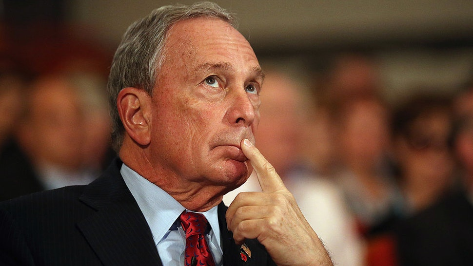 Michael Bloomberg, the Mayor of New York City, looks on before delivering his speech to delegates on the last day of the Conservative party conference, in the International Convention Centre on October 10, 2012 in Birmingham, England.