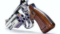 Russian roulette, artwork - stock illustration