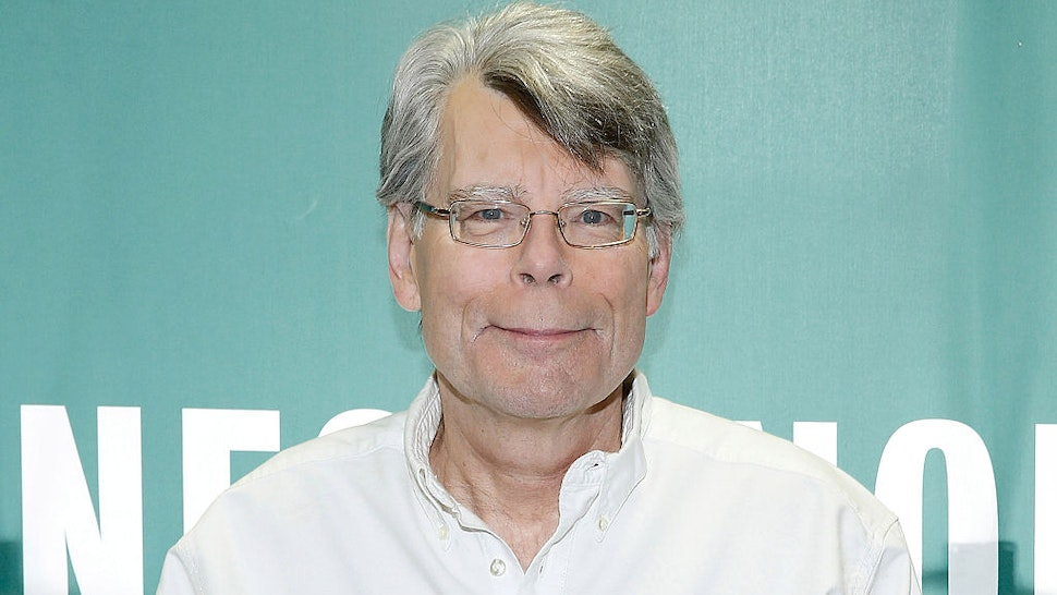 "Stephen King Signs Copies Of His Book ""Revival"" at Barnes & Noble Union Square on November 11, 2014 in New York City."
