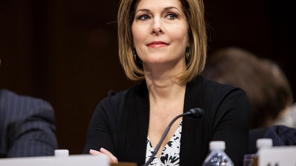 Investigative journalist Sharyl Attkisson testifies at the confirmation hearing for Loretta Lynch to replace U.S. Attorney General Eric Holder by the Senate Judiciary Committee at the U.S. Capitol in Washington, D.C. on January 29, 2015.