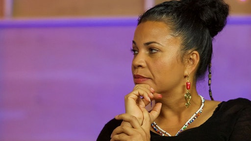 """Black Lives Mattes Organizer Dr. Melina Abdullah serves as a panelist on Live Stream Of """"My Peoples"""" Episode 3 at Mack Sennett Studios on May 22, 2016 in Los Angeles, California."""