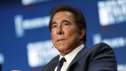Billionaire Steve Wynn, chairman and chief executive officer of Wynn Resorts Ltd., speaks during the Milken Institute Global Conference in Beverly Hills, California, U.S., on Wednesday, May 3, 2017.