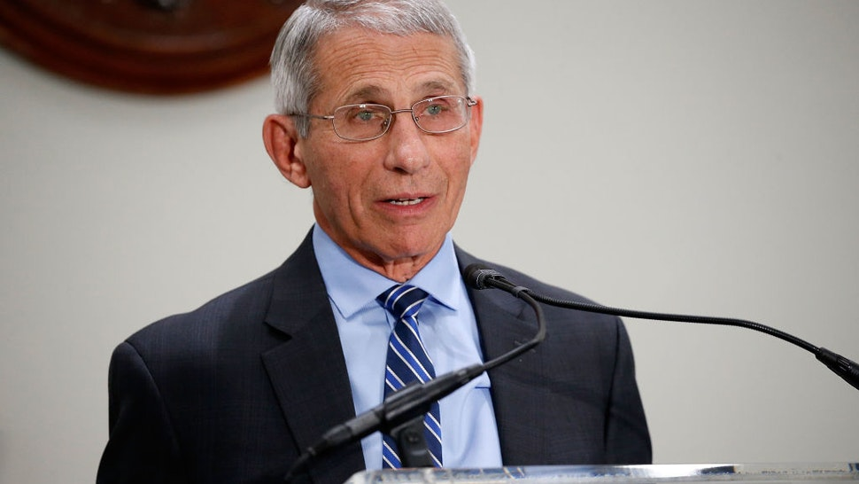 "Anthony Fauci, M.D., Director, National Institute of Allergy and Infectious Diseases, National Institutes of Health (NIH), speaks at ""Making AIDS History: A Roadmap for Ending the Epidemic"" at the Hart Senate Building on June 14, 2017 in Washington, DC."