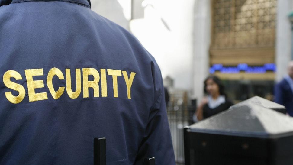 A security guard - stock photo