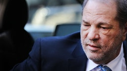Harvey Weinstein enters a Manhattan court house as a jury continues with deliberations in his trial on February 24, 2020 in New York City. On Friday the judge asked the jury to keep deliberating after they announced that they are deadlocked on the charges of predatory sexual assault. Weinstein, a movie producer whose alleged sexual misconduct helped spark the #MeToo movement, pleaded not-guilty on five counts of rape and sexual assault against two unnamed women and faces a possible life sentence in prison. (Photo by Spencer Platt/Getty Images)