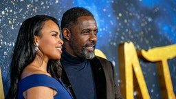 """Sabrina Dhowre Elba and Idris Elba attend the """"Cats"""" World Premiere at Alice Tully Hall, Lincoln Center on December 16, 2019 in New York City. (Photo by Roy Rochlin/FilmMagic)"""
